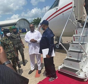nddc:-akpabio-arrives-delta,-to-meet-with-tompolo,-other-n'-delta-leaders